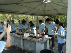 BBQ in Gucun Park, herfs 2014