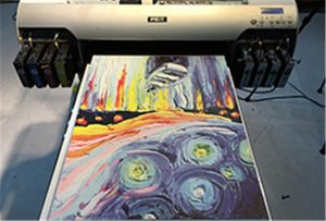 Canvas voorbeeld van A2 UV-printer WER-EH4880UV