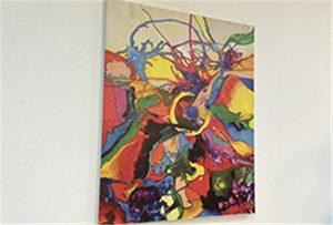Canvas monster gedruk deur A1 grootte uv drukker WER-EP6090UV