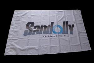 Vlagkleed banier gedruk met 1,6 m (5 voet) eko oplosmiddel drukker WER-ES160