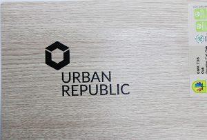 Logo drukwerk op hout materiaal deur WER-D4880UV 2