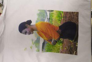 T-shirts druk monster vir Birma kliënt van WER-EP6090T drukker